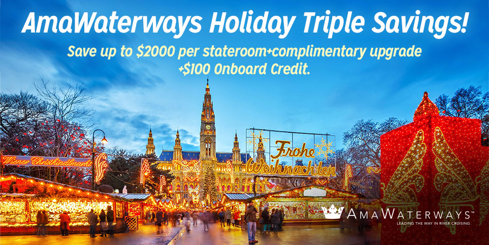 Save on a holiday cruise with AAA and Ama Waterways
