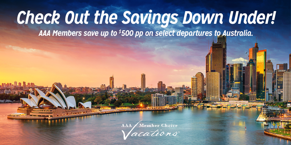 Save up to $500 per person on a Vacation to Australia